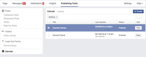 Canvas Facebook là gì 5