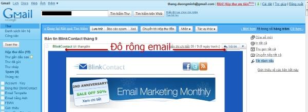 email marketing mẫu 2