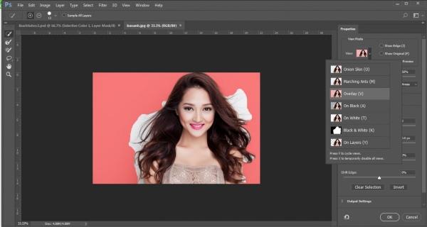tách tóc trong photoshop 2