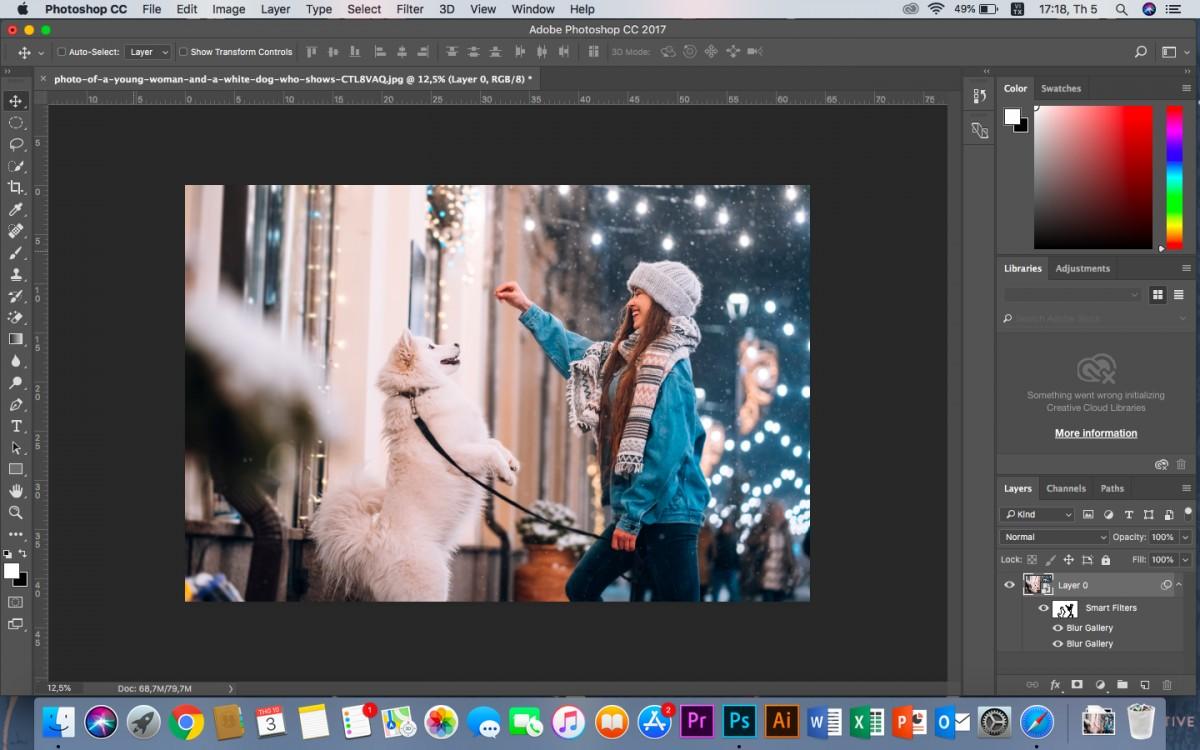 Cách làm mờ ảnh trong Photoshop