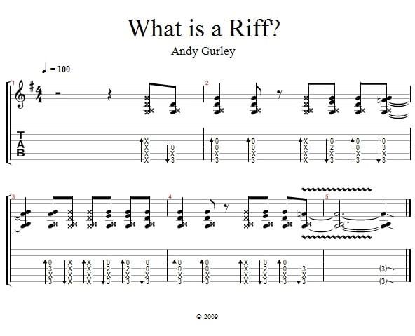 Riff là gì