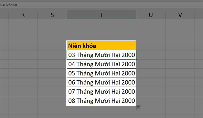 Cách chuyển ngày tháng năm sang dạng text