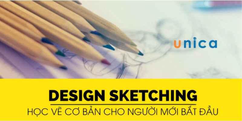 khóa học vẽ design sketching tại nhà học online tiết kiệm thời gian và công sức