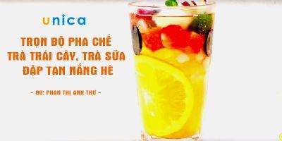 Trọn bộ  pha chế trà trái cây, trà sữa - Đập tan nắng hè