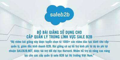 Đào tạo Sale B2B chuyên nghiệp dành cho cấp quản lý đội nhóm kinh doanh