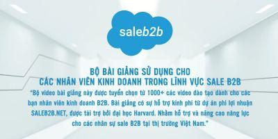 Đào tạo Sale B2B chuyên nghiệp dành cho nhân viên kinh doanh