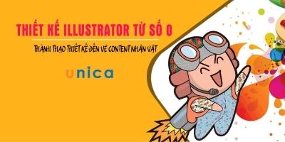 Thiết kế illustrator từ số 0 - Thành thạo thiết kế đến vẽ content nhân vật