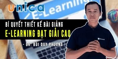 Bí quyết thiết kế bài giảng E-Learning đạt giải cao